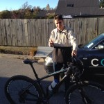 Wanaka Racer Paul Wright with his new Yeti ARC - FAST!